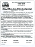 Hey what is a union anyway