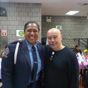 Guest Speaker Regina Wilson with Pres Eddie Rodriguez